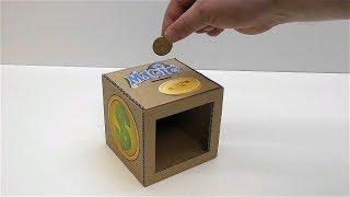 Магическая копилка из картона Как сделать магическую копилку