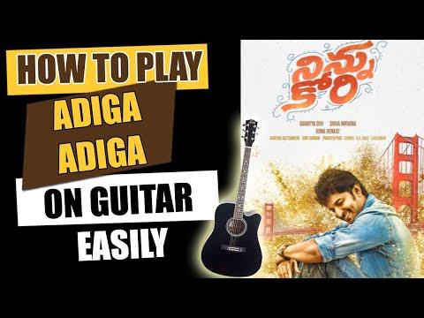 Adiga Adiga  - Guitar Tutorial - Telugu Guitar Songs