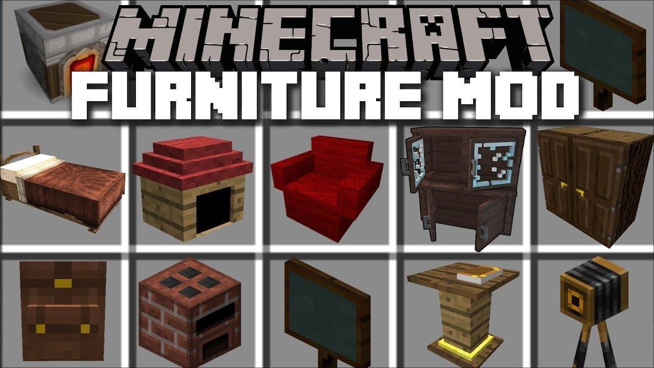 En Gelismis Ev Esyalari Modu Indirme Linki Minecraft Youtube