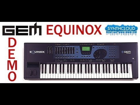 Gem Equinox synth workstation - Jamming part 1 ( synthcloud )