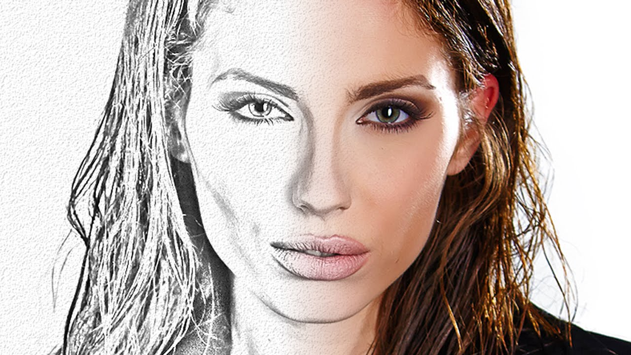 Photoshop Photo Line Art Effect : Photoshop tutorial transform photos into the look of