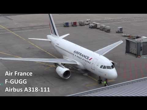 Air France - Airbus A318-111 (F-GUGG) Pushback, Engine Start & Taxi - Frankfurt (FRA/EDDF)