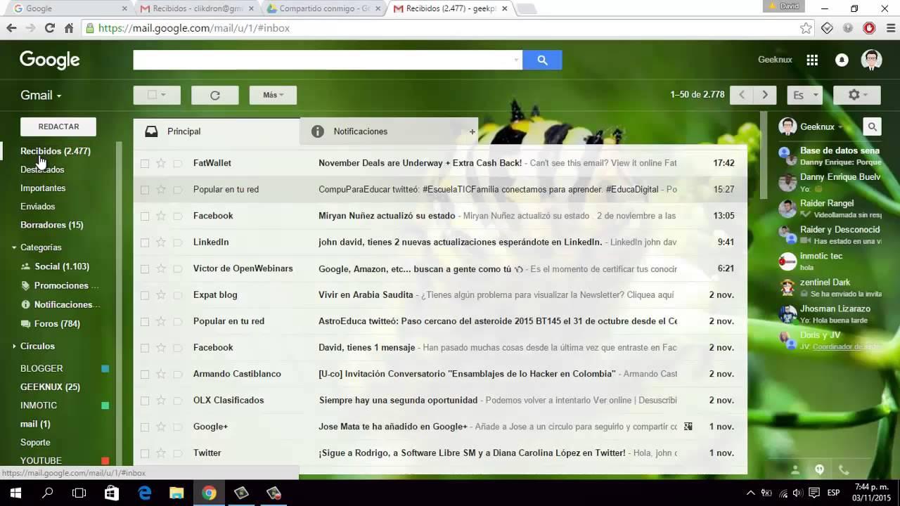 Curso De Gmail 2 Youtube