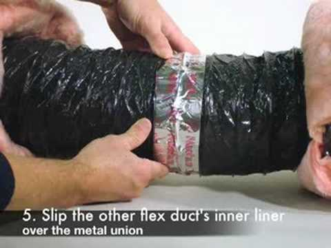 Sealing Flex Duct To Flex Duct Youtube
