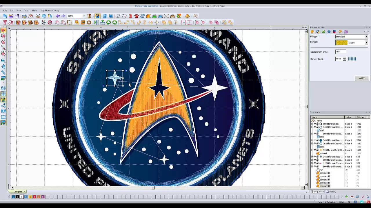 Floriani Total Control Professional Helps Making Patches Floriani Floriani Embroidery Embroidery Software How to design a patch