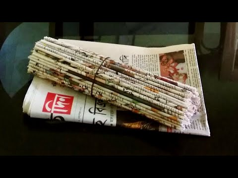 Newspaper craft/Best out of waste craft ideas
