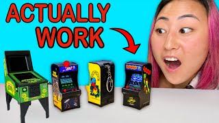 TESTING OUT TINY ARCADE GAMES!! (will they work?)
