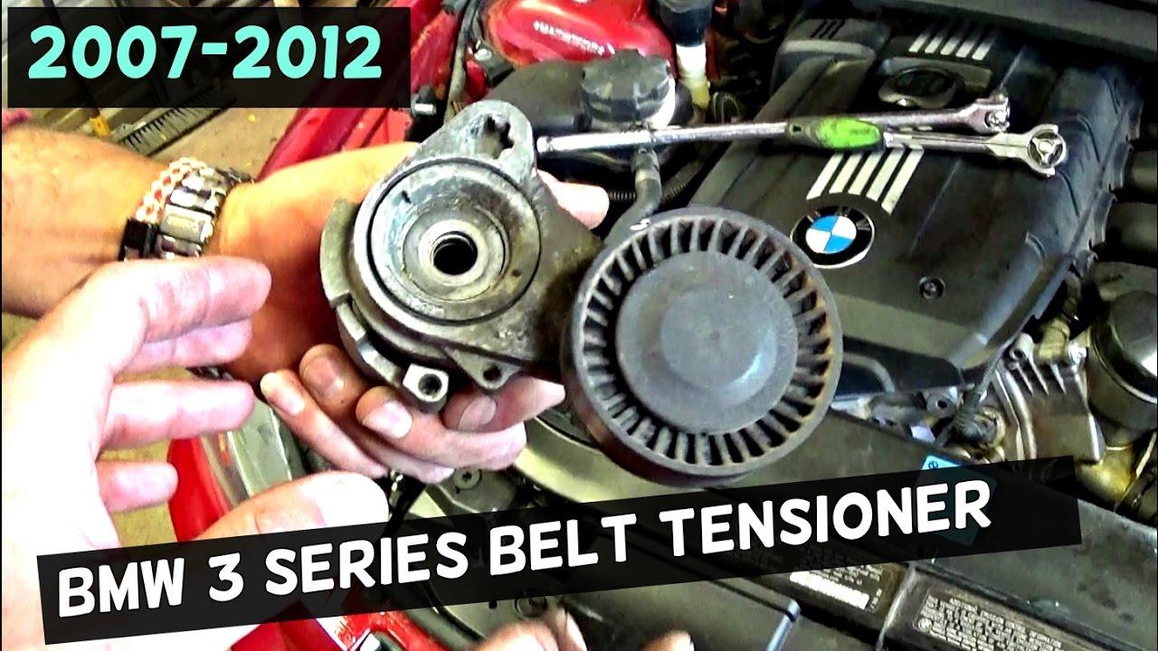 BMW E90 E92 E93 SERPENTINE BELT TENSIONER REPLACEMENT 2006 2007 2008 2009 2010 2011 2012  YouTube