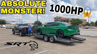 Download TAKING DELIVERY OF A 1000HP DODGE CHARGER HELLCAT! *ITS SO LOUD!* Mp3 and Videos