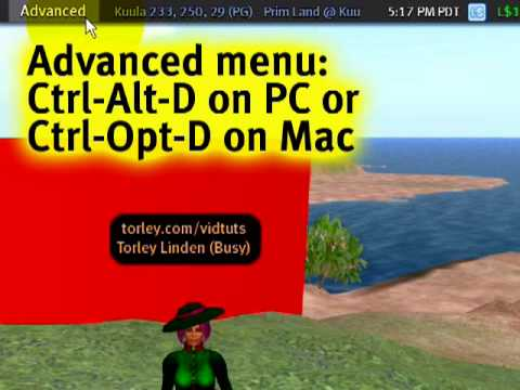 Hiding objects temporarily - Second Life Video TuTORial QUIC