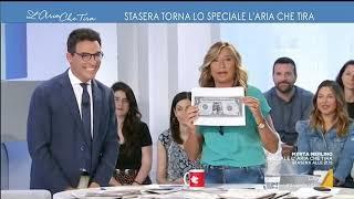 Myrta Merlino presenta lo Speciale L'Aria Che Tira di questa sera