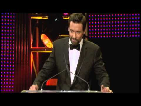 Hugh Jackman Honors Paul Hogan G'Day USA Los Angeles Black Tie Gala