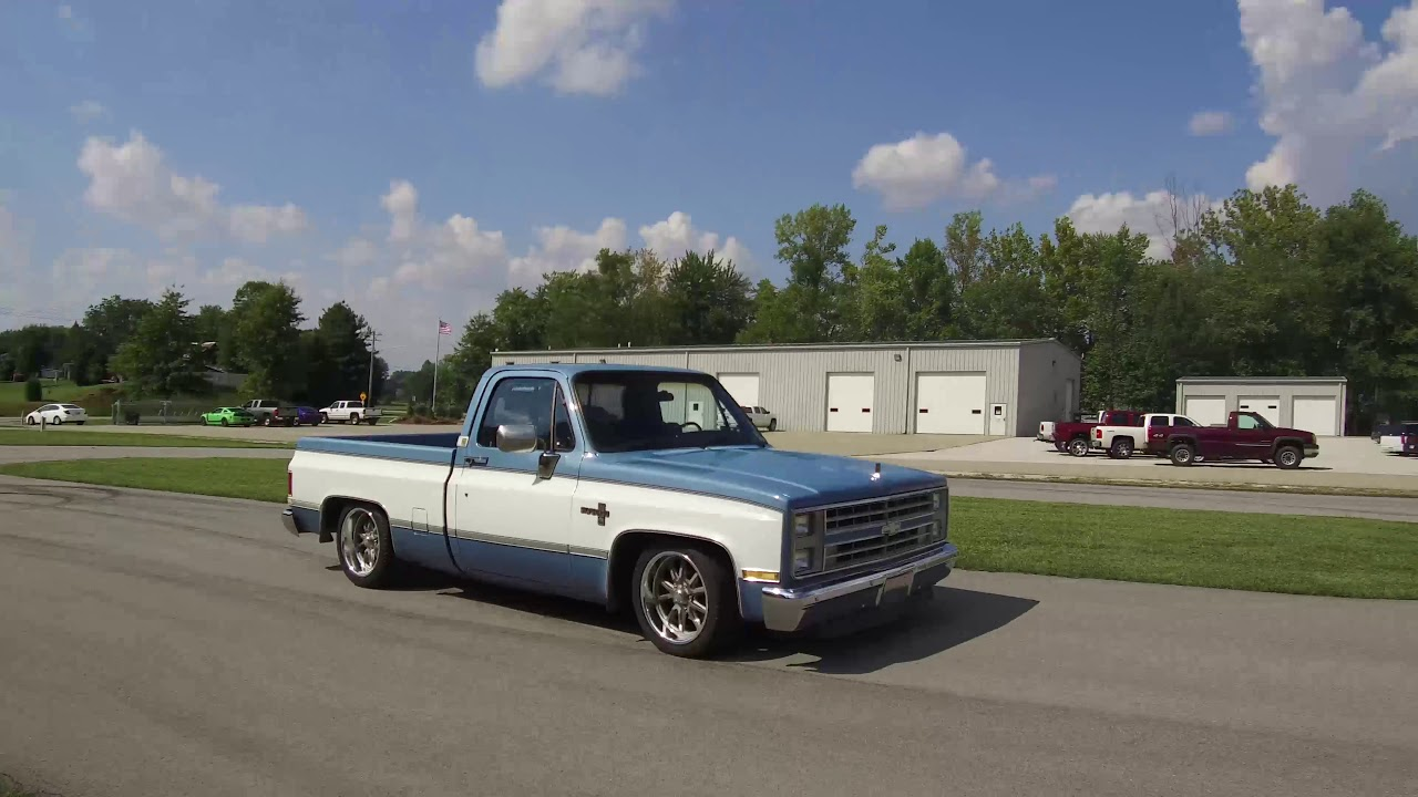 small resolution of 1973 1987 c10 coilover kit on ridetech test track