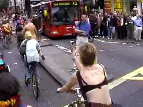 Naked Bike Ride - London 2005