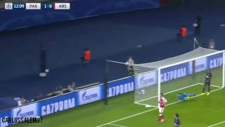 Ospina amazing play vs PSG! Arsenal Champions League Atajadas saves