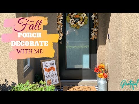 FALL PORCH DECOR   DECORATE WITH ME   OUTDOOR FALL DECOR 🍁✨