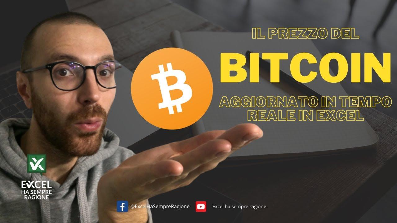 bitcoin in tempo reale