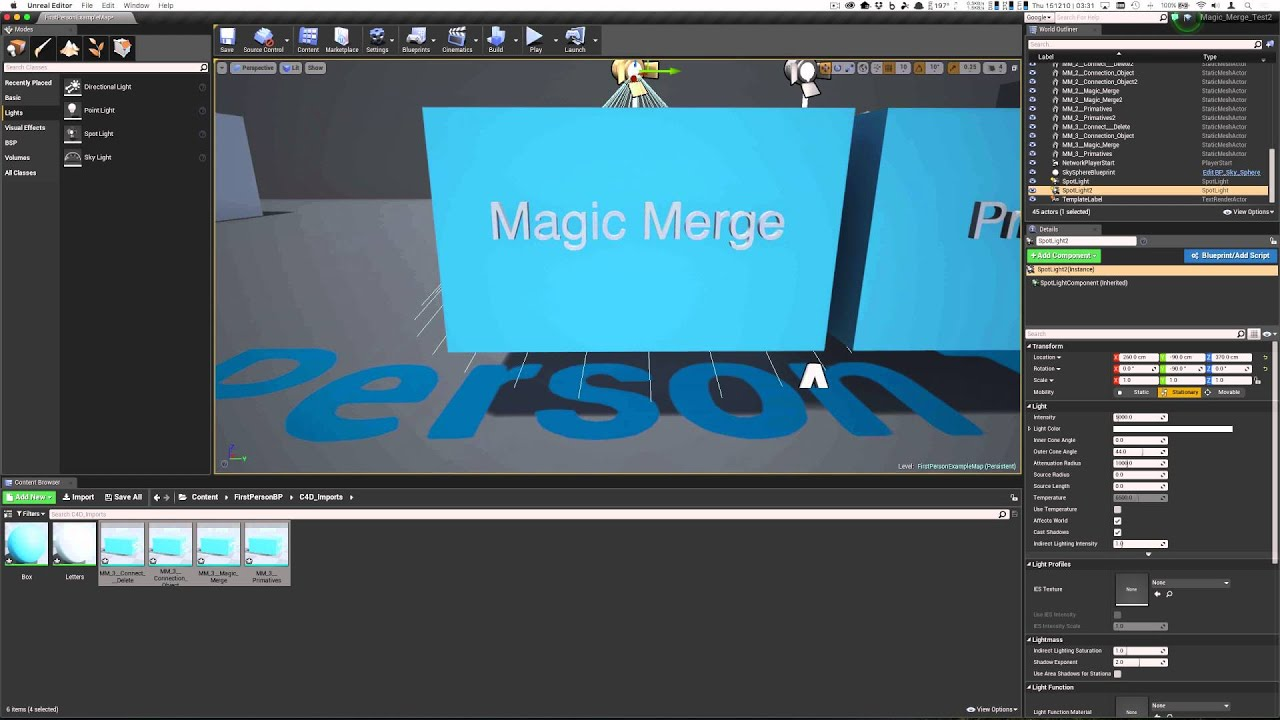 Cinema 4D to Unreal Engine 4 - Magic Merge