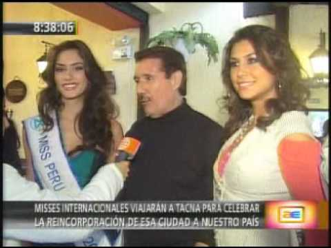 Miss World Perú 2008 AnnMarie Dehainaut y Reinas Internacionales Viajaran a Tacna
