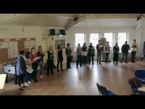 One year Musical Theatre Course London rehearsal- performing arts at Associated Studios