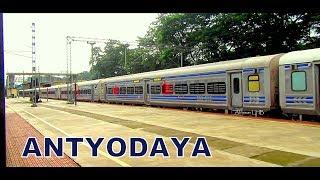 ICF Chennai made Paintless Stainless Steel LHB Train: Kochuveli -MAJN ANTYODAYA EXPRESS at Mangaluru