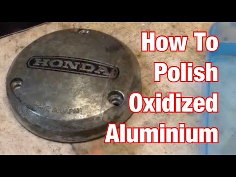How To Polish Old Oxidized Aluminum Parts-Vintage Motorcycle Restoration Project: Part 42