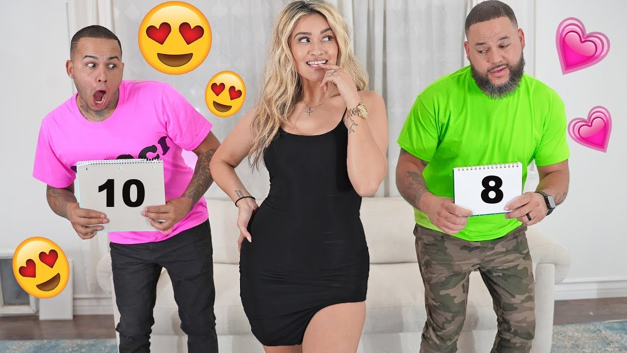 HUSBAND and EX BOYFRIEND Rate My Outfits.. ( THIS DOESNT