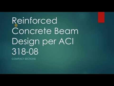 Reinforced Concrete Beam Design ACI 318-08 - YouTube