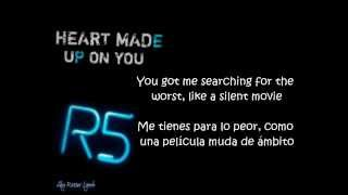 r5 heart made up on you letra y sub en espaol