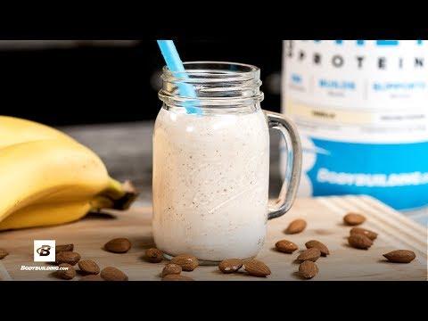 Banana Almond Cream Protein Shake