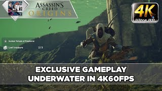 Assassin's Creed: Origins (4K60) - Underwater Gameplay / Caves / Looting | CenterStrain01