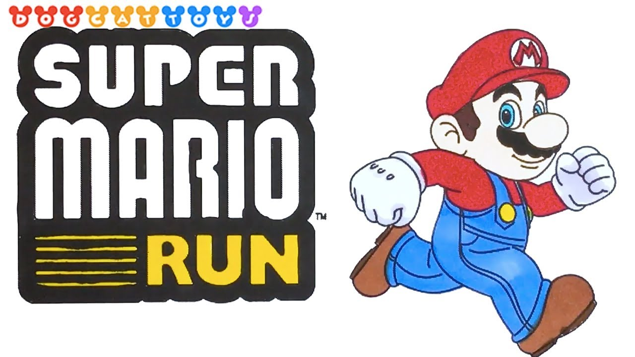 Speed Drawing Super Mario Run | Drawing Coloring Pages ...