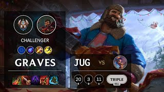 Graves Jungle vs Lillia - EUW Challenger Patch 10.20