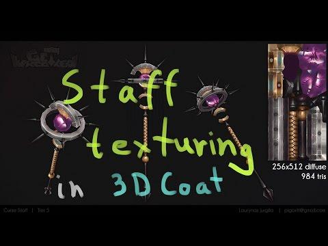 | PigArt | : Staff texturing in 3D Coat