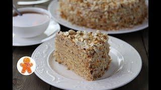 """Арахисовый Торт """"Коровка"""" ✧ Ореховый торт ✧ Peanut Cake (English Subtitles)"""