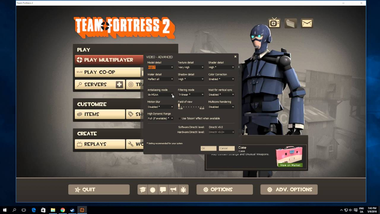 How To Disable Anti Aliasing In TF2