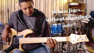 PHRASE SHIFTING (16 bass lines... without changing a note?)