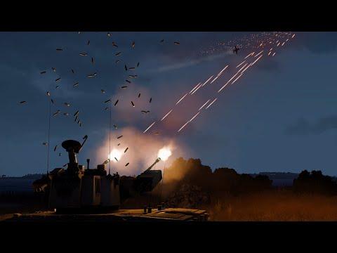 A-10 Warthog vs Anti-Air Tank - Missiles and Tracers firing - GAU-8 Avenger - ArmA 3 Simulation