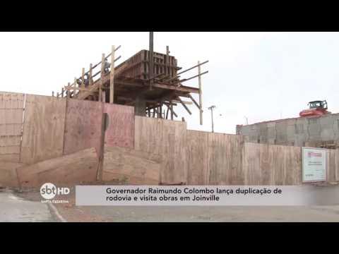 Governador Raimundo Colombo lança duplicação de rodovias e visita obras em Joinville