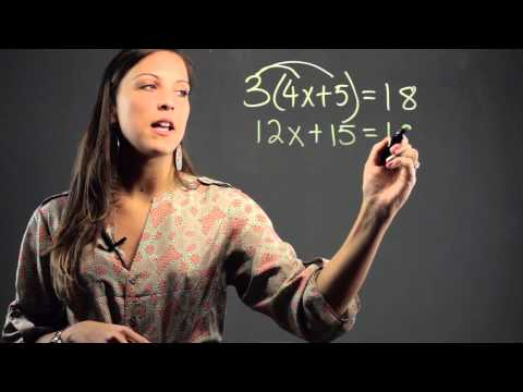 How to Solve Equations by Expanding the Brackets : Math Education