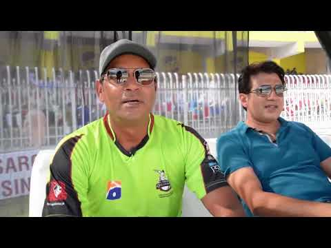 Former Cricketer Aqib Javed Interview During Jazz Rising Star Tournament