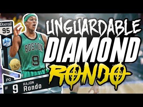 NBA 2K17 MYTEAM DIAMOND RAJON RONDO GAMEPLAY! HE IS THE ULTIMATE POINT GUARD!!!!!