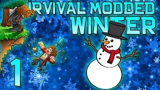 Minecraft: Modded Winter Survival Let's Play w/Mitch! Ep. 1 - Winter War Mod!