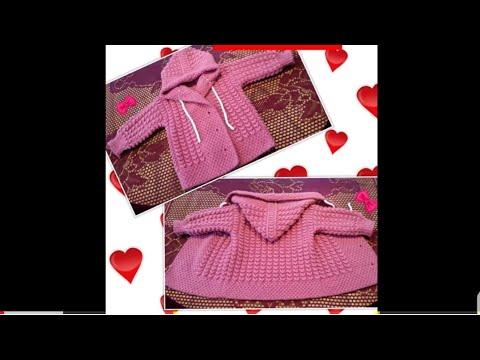 Pardesiu tricotat manual pentru copii