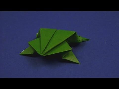 origami frosch origami papierfaltkunst lerner funnycat tv. Black Bedroom Furniture Sets. Home Design Ideas