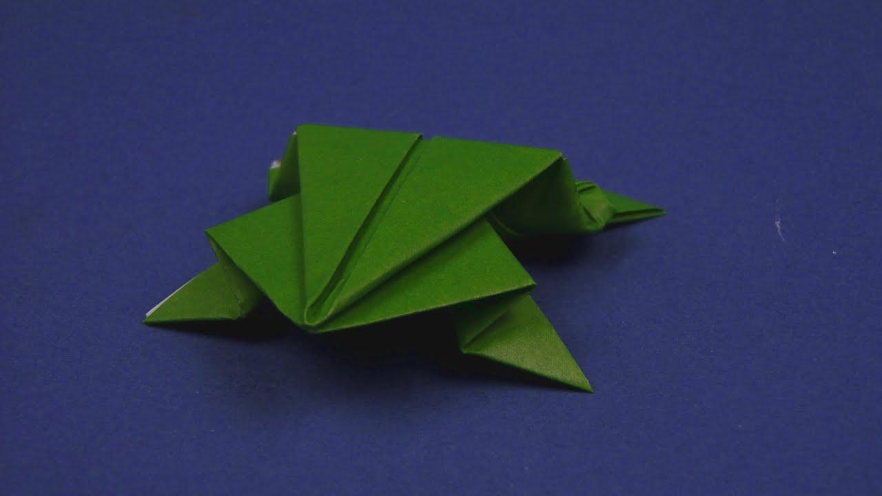 origami frosch faltanleitung youtube