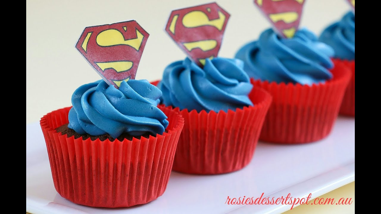 Super Moist Chocolate Cupcakes Superman Cupcake Tutorial