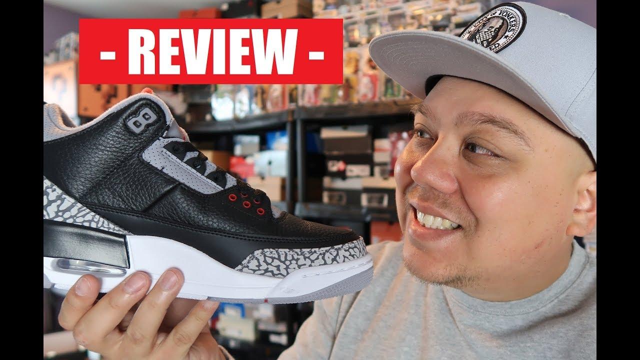 Air Jordan 3 Black Cement OG 2018 Retro Unboxing On Feet Detailed Review