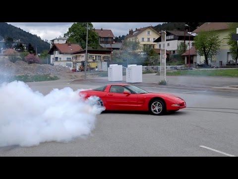 BURNOUT Corvette C5 !