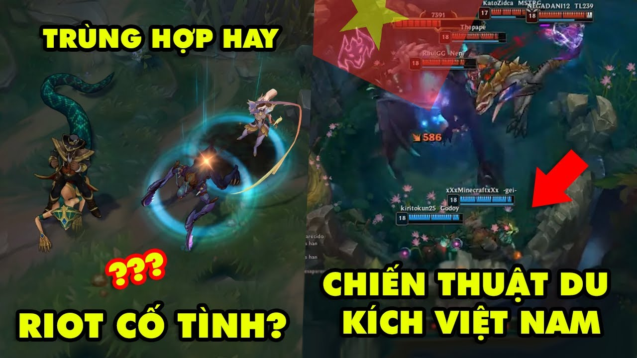 TOP khoảnh khắc điên rồ nhất LMHT #20: Trùng hợp Bá Đạo hay Riot cố tình, Đánh du kích kiểu Việt Nam